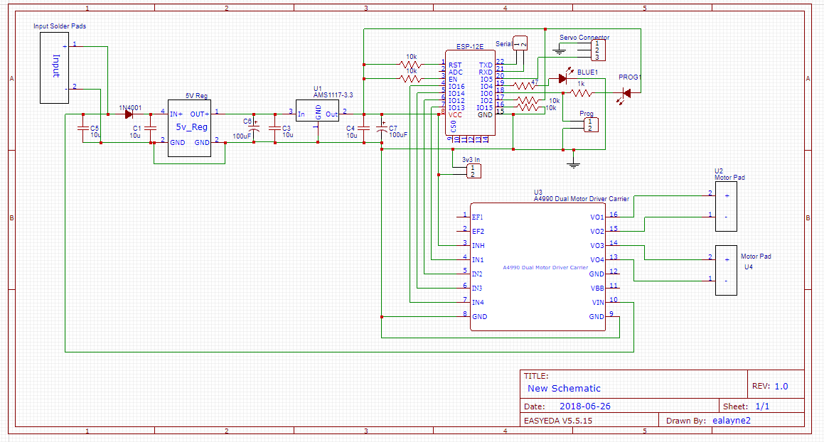 Outreach Demo Robots Electronics Schematic